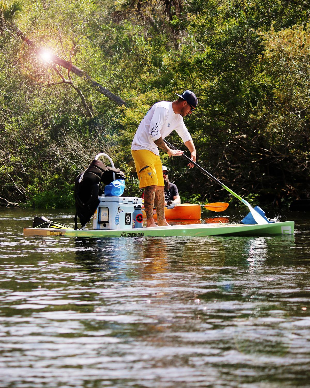 Chad on paddleboard